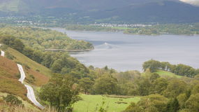 Derwent water from Catbells. UK Royalty Free Stock Images