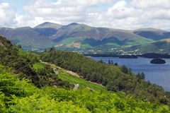 Derwent Water in The English Lake District Royalty Free Stock Photo