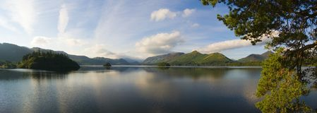 Derwent Water from Friars Crag with view of Catbells and Borrowdale, Lake District, Cumbria, England