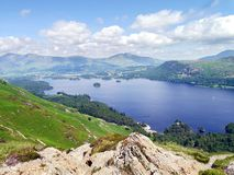 Derwent Water with Keswick behind, Lake District Stock Photo