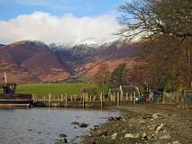 Derwent Water and mountains Royalty Free Stock Images