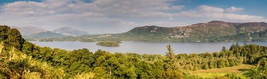 Derwent Water Panorama Stock Image