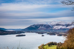 Derwent Water and Skiddaw in winter Royalty Free Stock Photos