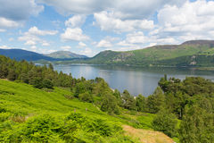 Derwent Water to Castlerigg Fell and Bleaberry Fell Lake District England UK Royalty Free Stock Image