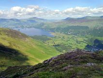Derwent Water and valley, Lake District Stock Photo