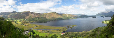 Derwent Water from viewpoint Stock Image