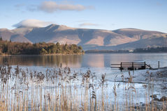 Derwent Water in Winter. Derwent Water on a cold, clear morning in Winter Royalty Free Stock Photography