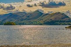 Derwentwater, задумчивые небеса стоковые фотографии rf