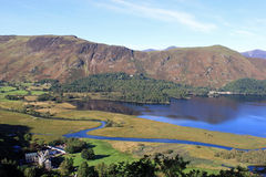 Derwentwater, Cat Bells and Maiden Moor, Cumbria. View from Surprise View across the southern end of Derwentwater in the English Lake District, Cumbria looking Royalty Free Stock Image