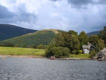 Derwentwater en el distrito del lago en Inglaterra del noroeste Imagen de archivo libre de regalías