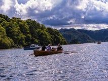Derwentwater en el distrito del lago en Inglaterra del noroeste Fotografía de archivo
