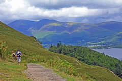 Derwentwater From Catbells Royalty Free Stock Photos