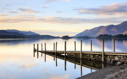 Derwentwater Landing Stage Royalty Free Stock Photos