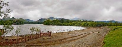 Derwentwater panoramic image, Cumbria, UK Royalty Free Stock Image