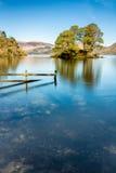 Derwentwater sjö i sjöområdet Royaltyfria Bilder