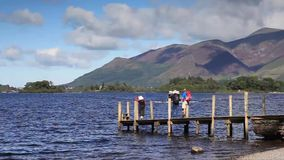 Derwentwater Steamer. A timelapse video of a Derwentwater steamer. The steamer is seen calling at Ashness pier on Derwentwater in the English Lake District stock footage
