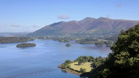Derwentwater Timelapse. A timelapse video of Derwentwater in the English Lake District National Park. The town of Keswick can be seen and beyond is Skiddaw the stock footage