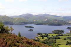 Derwentwater from Walla Rigg Royalty Free Stock Photos