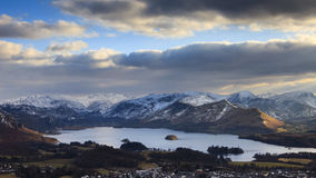 Derwentwater Winter View Royalty Free Stock Photos