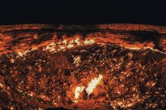Darvaza Gas crater, Turkmenistan, Central Asia, Asia royalty free stock images