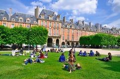 des巴黎安排vosges 免版税图库摄影
