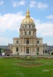 des旅馆invalides巴黎 免版税图库摄影