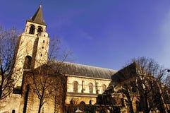 des法国germain ・巴黎pres圣徒 免版税库存照片