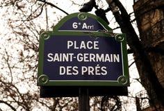 des法国germain ・巴黎pres圣徒 库存图片