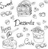 des éléments peuvent être employés dans les menus, signes, bannières, insectes illustration libre de droits