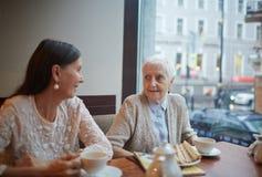 Des amis plus âgés Images libres de droits