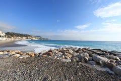 DES Anges Blue Coast de Cote d 'Azur la Baie fotografía de archivo libre de regalías