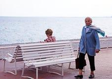 Des Anglais прогулки в славном, Франция Стоковое Изображение