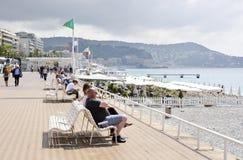 Des Anglais прогулки, славное, Франция Стоковые Изображения RF