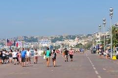 DES Anglais de la 'promenade' en Niza, Francia Fotografía de archivo libre de regalías