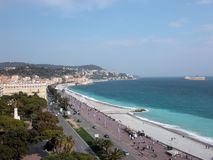 DES Anglais de promenade, Nice Photographie stock libre de droits