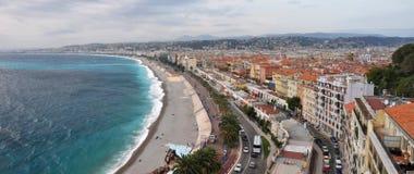 DES Anglais do passeio, agradável, d'Azur da costa, France Fotos de Stock Royalty Free