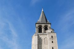DES antiguo Près, París, abadía de St Germain de la iglesia en París Imágenes de archivo libres de regalías