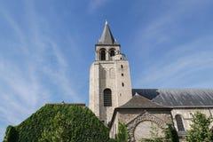 DES antiguo Près, París, abadía de St Germain de la iglesia en París Foto de archivo