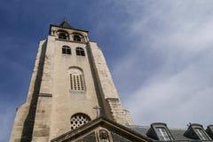 DES antiguo Près, París, abadía de St Germain de la iglesia en París Imagen de archivo