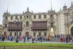 DES Armas, Lima de la plaza de la catedral Fotografía de archivo libre de regalías