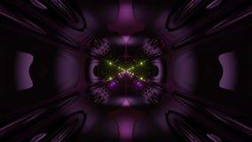 Des Arttunnelkorridors 3d der futuristischen Wissenschafterfindung ausländischer Schleifenhintergrund vj Illustration stock abbildung