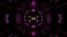 Des Arttunnelkorridors 3d der futuristischen Wissenschafterfindung ausländischer Schleifenhintergrund vj Illustration lizenzfreie abbildung