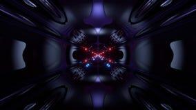 Des Arttunnelkorridors 3d der futuristischen Wissenschafterfindung ausländischer Schleifenhintergrund vj Illustration vektor abbildung