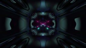 Des Arttunnelkorridors 3d der futuristischen Wissenschafterfindung ausländischer Schleifenhintergrund vj Illustration stock footage