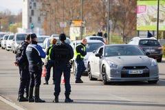 Des attaques de Paris de Frances - encadrez la surveillance avec l'Allemagne Image libre de droits