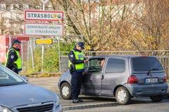 Des attaques de Paris de Frances - encadrez la surveillance avec l'Allemagne Photos libres de droits