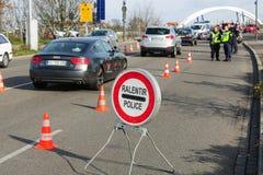 Des attaques de Paris de Frances - encadrez la surveillance avec l'Allemagne Photo libre de droits