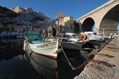 DES Auffes de Vallon, Marselha Fotos de Stock Royalty Free