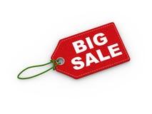 des Aufkleberwort-Textes des Tags 3d großer Verkauf Lizenzfreie Stockbilder