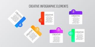 Des autocollants de calibre de conception moderne peuvent être employés pour le vecteur de disposition d'infographics, de bannièr illustration libre de droits